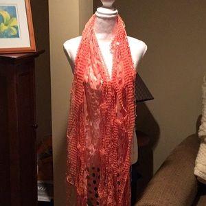 Unique open weave scarf